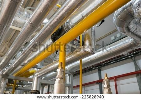 New pipeline on ceiling In boiler Center