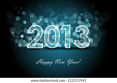 2013 - New year background