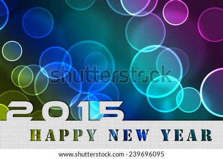 2015 new year background invitation flying bubbles champagne