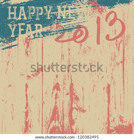 2013 New Year background retro styled. Raster version, vector file available in portfolio.