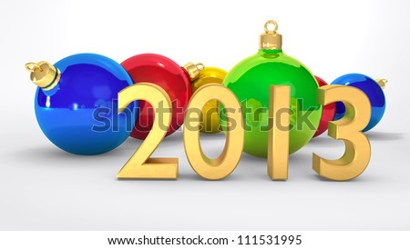 2013 new year, christmas balls