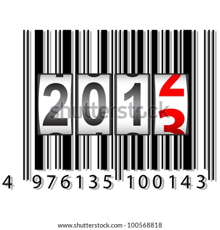 2013 New Year counter, barcode,.