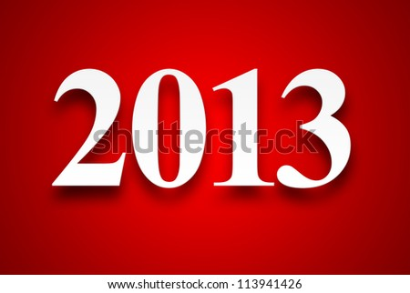 2013 new year date background