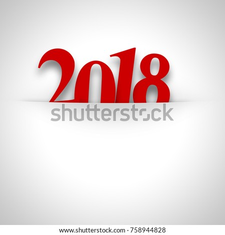 2018 new year date background...