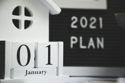 2021 new year goal, plan, action. office accessories. Business motivation, inspiration concepts ideas. 1 january