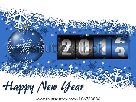 2013 new year illustration with couter - stock photo