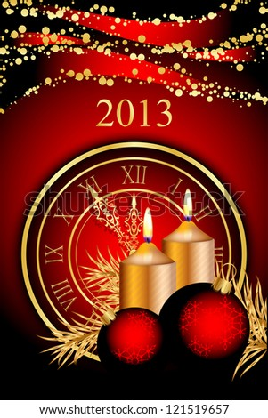 2013 New Year red background