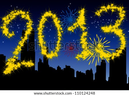 2013 New Year\'s Eve greeting card