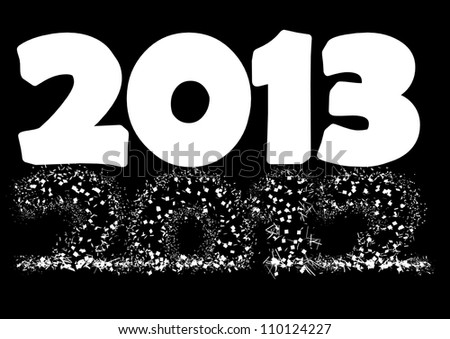 2013 New Year\'s Eve greeting card  as a alpha mask