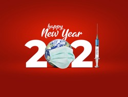 2021 new year. Vaccine for COVID-19 in 2021 is closer to reality. COVID-19 Vaccine. vaccine against coronavirus disease 2019 will be available on 2021. 2021-new year with corona virus vaccine concept.