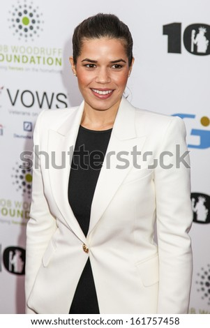 NEW YORK, NY - NOVEMBER 06: America Ferrera attends at 7th Annual Stand Up For Heroes Event at The Theater at Madison Square Garden on November 6, 2013 in New York City.