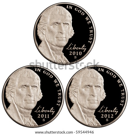 2010 2011 2012 Nickels