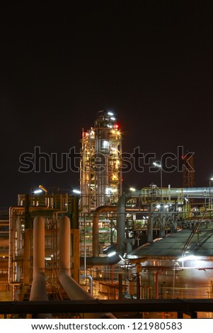 Night scene of Petro and chemica factory - Eastern of Thailand