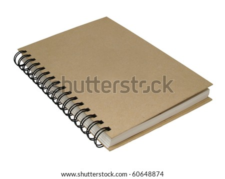 note book on  white backgrounds - stock photo