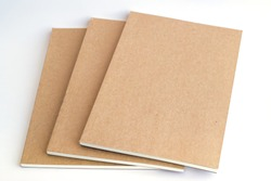 notebooks on white background