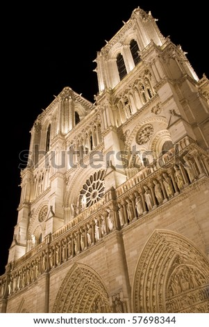 Notre Dame in Paris by night