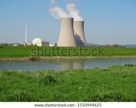 Nuclear power plant Grohnde on the Weser in Lower Saxony