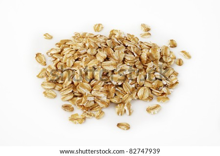 oats on white background