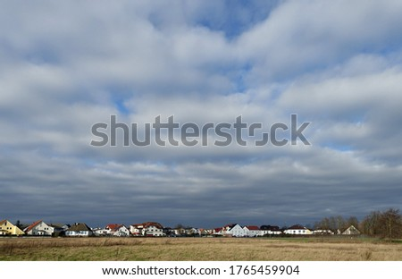 Ober-Roden with cloudy sky before a storm                          Stock foto ©