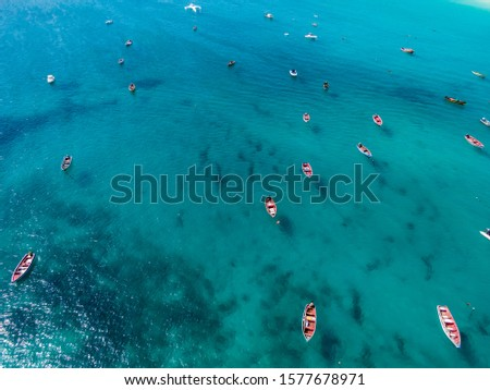 [object Object]Aerial view of Santa Maria beach in Sal Island Cape Verde - Cabo Verde