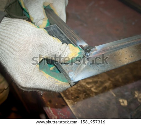 [object Object]measuring the angle of the welded structure #1581957316