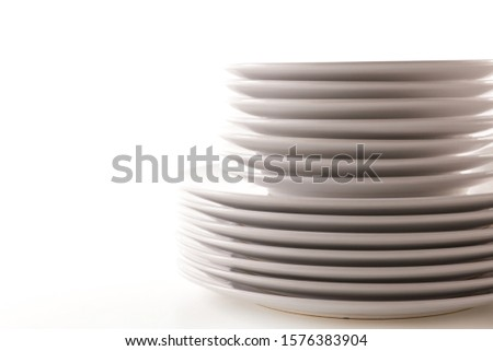 [object Object]pile of empty plate