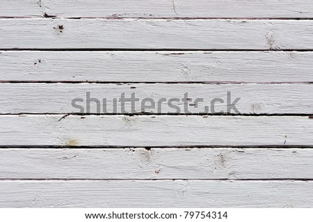 Obsolete weathered white painted wooden planks background