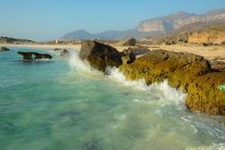 ocean rocks seascape beach water