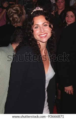 "15OCT97: Actress MINNIE DRIVER at the premiere of ""Boogie Nights.""  The movie is about a family of actors & filmmakers in the adult movie business."