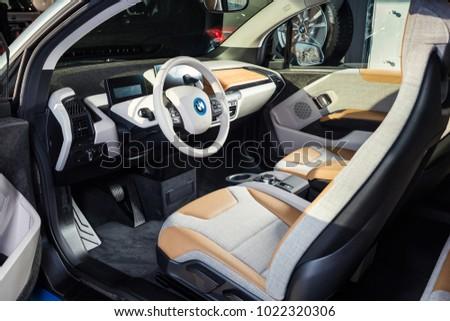 20 Of January 2018 Vinnitsa Ukraine Bmw I3 Electric Vehicle