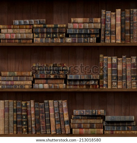 6 of 15 Old books seamless texture (vertically and horizontally). Bookshelf Background. Also tiled with other 15 textures from same pack in my gallery.