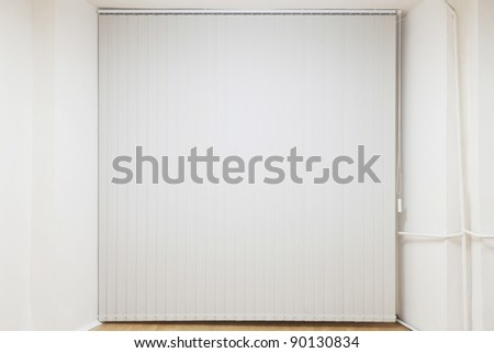 off vertical blinds inside home closed #90130834