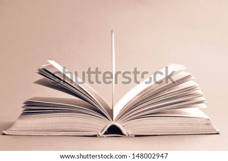 Old Fashioned Open Book Lighted Vintage Background