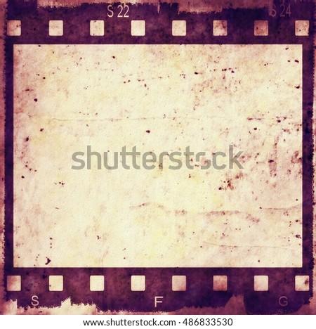 old grunge film strip frame background | EZ Canvas