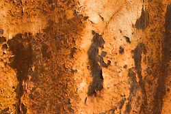old metal iron rust background and texture. Corroded white metal background.   metal surface with streaks of rust.