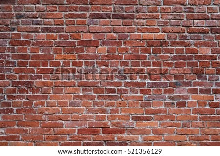 old red brick wall texture background - Shutterstock ID 521356129