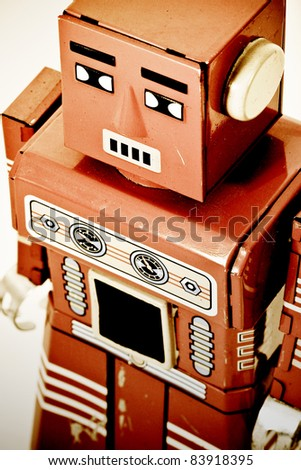 old retro robot toy