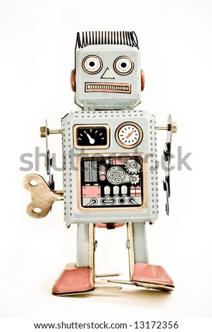 old robot toy  ( retro inspired image )