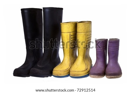 Old rubber boots