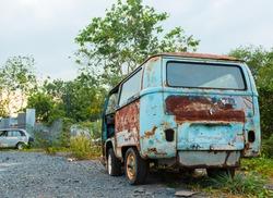 Old rusty van.