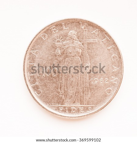 old vatican liras coins now...