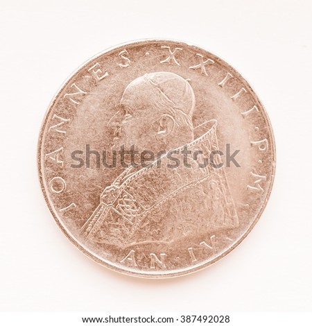 old vatican liras coins with...