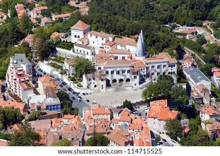 Old village of Sintra in Portugal