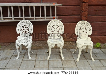 Old Wrought Iron Chairs #776491114