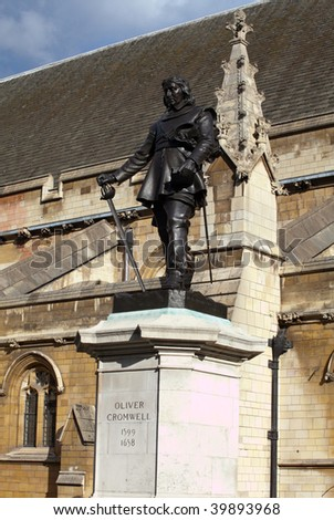 Oliver Cromwell statue on Parliament Square