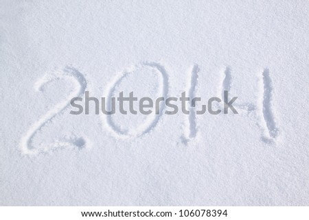 2014 on the snow for the new year and christmas