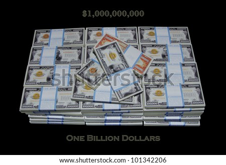 $1,000,000,000 bill  1,000,000,000 / One Billion Dollars,