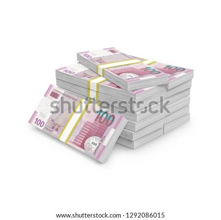 100 one hundred Azerbaijani manat