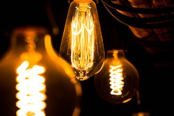 3 orange bulb, Belegrade, Serbia, 14.01.2020.