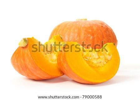 Orange pumpkin on white background #79000588